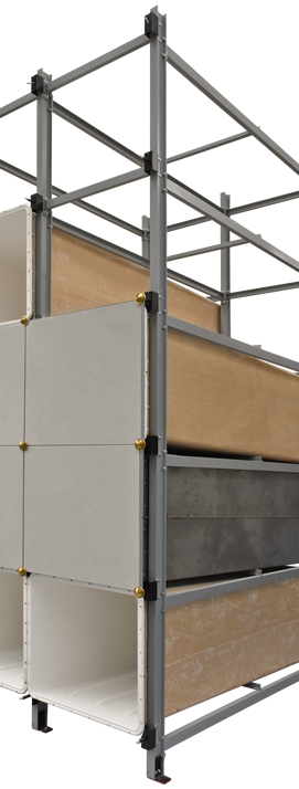 Modular system for precast niches